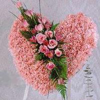 kalp pano karankil ve güller   Ankara internetten çiçek siparişi