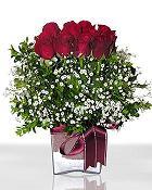 Ankara çiçek , çiçekçi , çiçekçilik  11 adet gül mika yada cam - anneler günü seçimi -