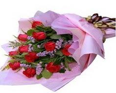 11 adet kirmizi güllerden görsel buket  Ankara çiçek gönderme sitemiz güvenlidir