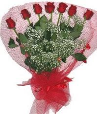 7 adet kipkirmizi gülden görsel buket  Ankara çiçek mağazası , çiçekçi adresleri