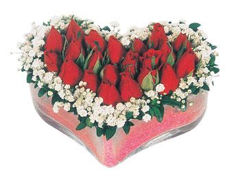 Ankara çiçekçi telefonları  mika kalpte kirmizi güller 9