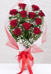 11 kırmızı gülden buket çiçeği  Ankara 14 şubat sevgililer günü çiçek