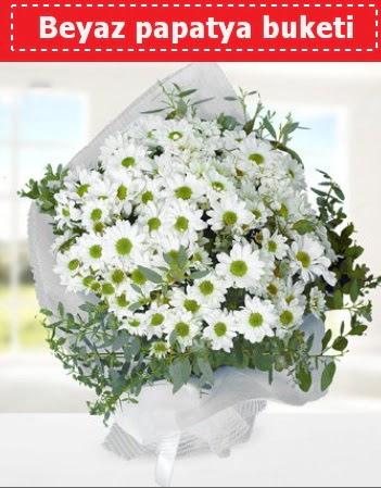 Beyaz Papatya Buketi  Ankara 14 şubat sevgililer günü çiçek
