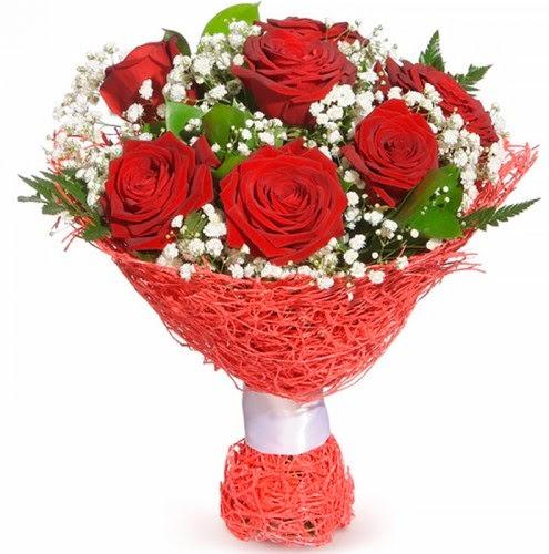 7 adet kırmızı gül buketi  Ankara çiçekçiler