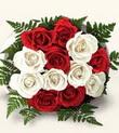 Ankara çiçek , çiçekçi , çiçekçilik  10 adet kirmizi beyaz güller - anneler günü için ideal seçimdir -
