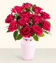 Ankara hediye çiçek yolla  10 kirmizi gül cam yada mika vazo tanzim