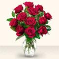 Ankara çiçek yolla  10 adet gül cam yada mika vazo da