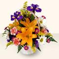Ankara 14 şubat sevgililer günü çiçek  sepet içinde karisik çiçekler