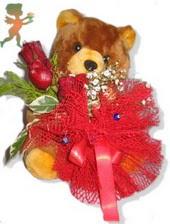 oyuncak ayi ve gül tanzim  Ankara çiçekçiler
