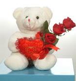 3 adetgül ve oyuncak   Ankara online çiçekçi , çiçek siparişi