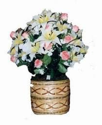 yapay karisik çiçek sepeti   Ankara çiçek servisi , çiçekçi adresleri