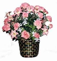 yapay karisik çiçek sepeti  Ankara çiçek online çiçek siparişi