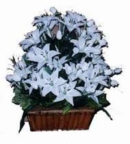 yapay karisik çiçek sepeti   Ankara online çiçek gönderme sipariş