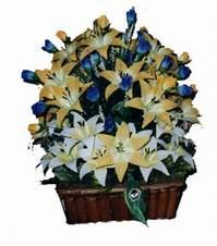 yapay karisik çiçek sepeti   Ankara çiçek gönderme