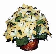 yapay karisik çiçek sepeti   Ankara çiçek siparişi sitesi