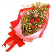 12 adet renkli  gül buketi   Ankara çiçekçi mağazası