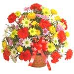 karisik renkli çiçek sepet   Ankara çiçek gönderme sitemiz güvenlidir