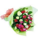 12 adet renkli gül buketi   Ankara çiçek gönderme sitemiz güvenlidir