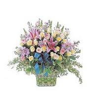 sepette kazablanka ve güller   Ankara çiçek gönderme