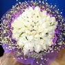 71 adet beyaz gül buketi   Ankara çiçek , çiçekçi , çiçekçilik