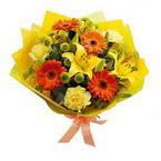 Ankara çiçek , çiçekçi , çiçekçilik  orta boy  buket demetlik - karisik buket anneler günü  için -