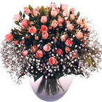 büyük cam fanusta güller   Ankara çiçek yolla