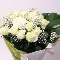 Ankara hediye çiçek yolla  11 adet sade beyaz gül buketi