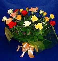 Ankara hediye çiçek yolla  13 adet karisik renkli güller