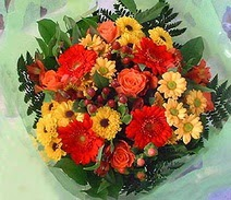Ankara ucuz çiçek gönder  sade hos orta boy karisik demet çiçek