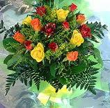 13 adet karisik gül buketi demeti   Ankara uluslararası çiçek gönderme