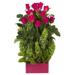 12 adet kirmizi gül aranjmani  Ankara çiçek mağazası , çiçekçi adresleri