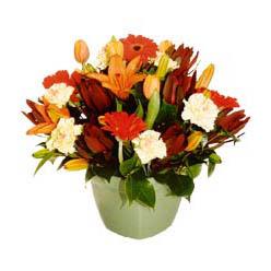 mevsim çiçeklerinden karma aranjman  Ankara çiçek yolla , çiçek gönder , çiçekçi