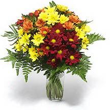 Ankara çiçek siparişi sitesi  Karisik çiçeklerden mevsim vazosu