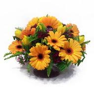 gerbera ve kir çiçek masa aranjmani  Ankara çiçek siparişi vermek