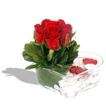 Mika kalp içerisinde 9 adet kirmizi gül  Ankara çiçek servisi , çiçekçi adresleri