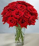 Ankara çiçek siparişi sitesi  Sevdiklerinize özel ürün 12 adet cam içerisinde kirmizi gül  Ankara hediye çiçek yolla