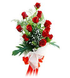 11 adet kirmizi güllerden görsel sölen buket  Ankara çiçek siparişi vermek