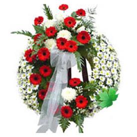 Cenaze çelengi cenaze çiçek modeli  Ankara uluslararası çiçek gönderme