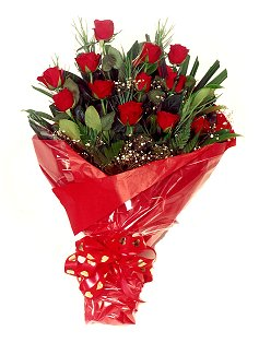 12 adet kirmizi gül buketi  Ankara çiçekçiler