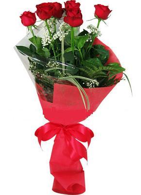 7 adet kirmizi gül buketi  Ankara çiçek yolla , çiçek gönder , çiçekçi