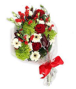 Karisik mevsim buketi çiçek tanzimi  Ankara internetten çiçek siparişi
