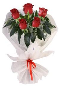 5 adet kirmizi gül buketi  Ankara çiçekçiler