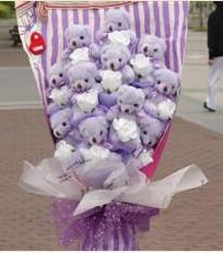 11 adet pelus ayicik buketi  Ankara çiçek gönderme sitemiz güvenlidir