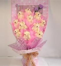 11 adet pelus ayicik buketi  Ankara çiçek yolla