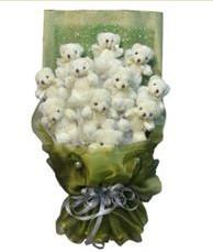 11 adet pelus ayicik buketi  Ankara online çiçek gönderme sipariş