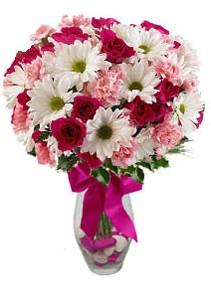 Ankara çiçek siparişi sitesi  Karisik mevsim kir çiçegi vazosu