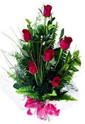 Ankara güvenli kaliteli hızlı çiçek  5 adet kirmizi gül buketi hediye ürünü