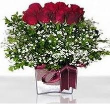 Ankara internetten çiçek satışı  mika yada cam vazo içerisinde 7 adet gül