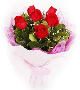 Ankara hediye sevgilime hediye çiçek  kırmızı 6 adet gülden buket