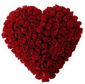 Ankara çiçekçi mağazası  muhteşem kırmızı güllerden kalp çiçeği